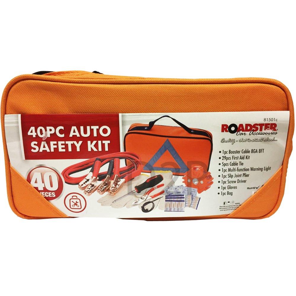 40PC PROFESSIONAL EMERGENCY BREAKDOWN ROAD SAFETY KIT VEHICLE CAR VAN CARAVAN OOTB