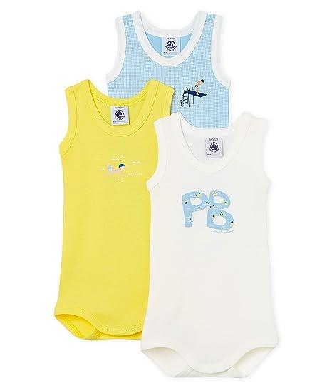 462a95bfe Petit Bateau Benny Body, Multicolore (Multicolor 00), 74 (Taille Fabricant:  12M) (Lot de 3) Bébé garçon: Amazon.fr: Vêtements et accessoires