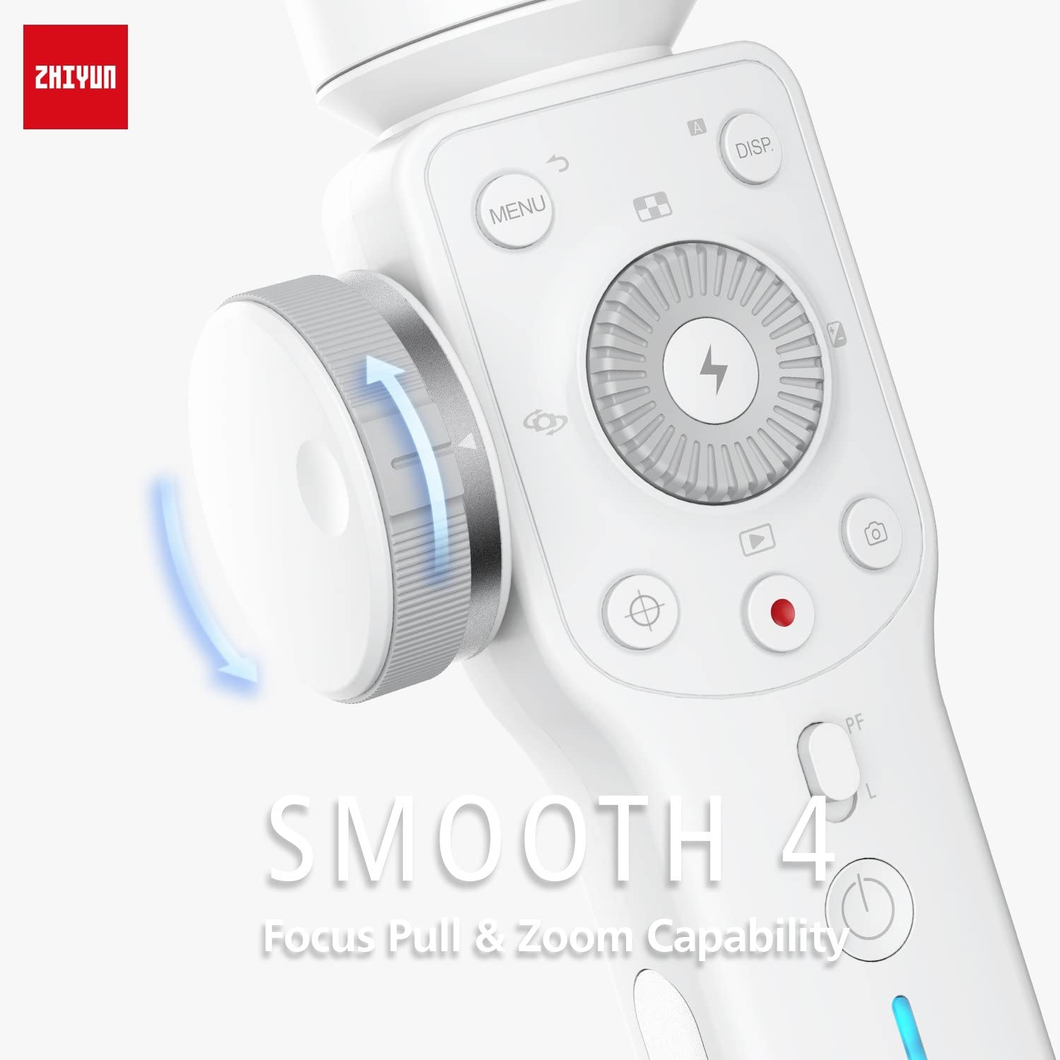 ZHIYUN Smooth 4 Gimbal Stabilizer for Smartphones White