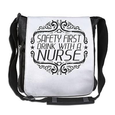 Safety First Drink With A Nurse Art Fashion Print Diagonal Single Shoulder Bag