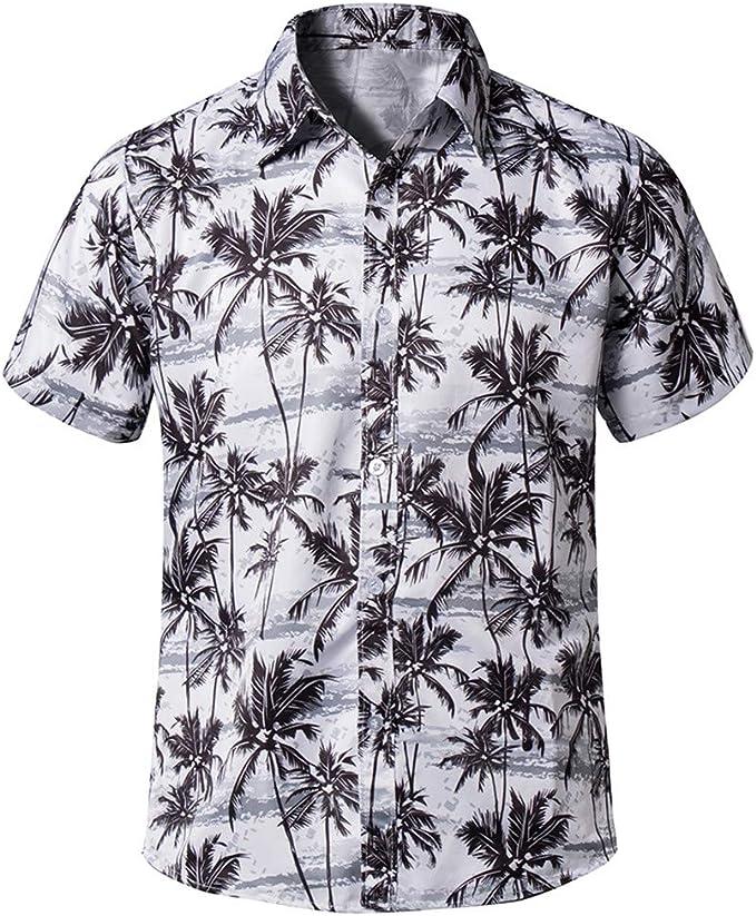 MOTOCO Camisa Polo Hawaiana de Hombre Camisa de Fiesta en la Playa ...