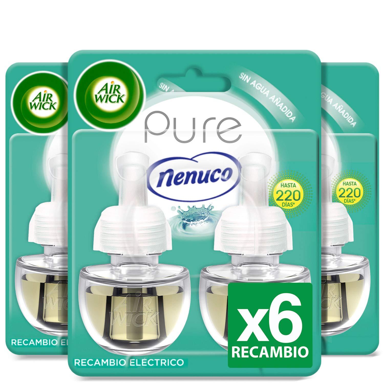Air Wick Eléctrico - Recambios de ambientador, esencia para casa con aroma a nenuco, pack de 6 uinidades