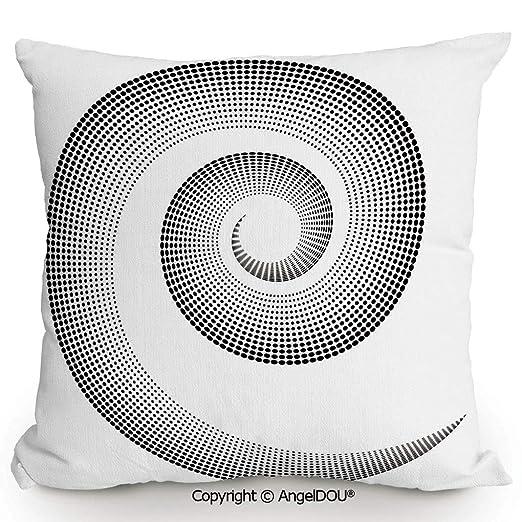 AngelDOU - Cojín Cuadrado de Lino y algodón, diseño de Oso ...