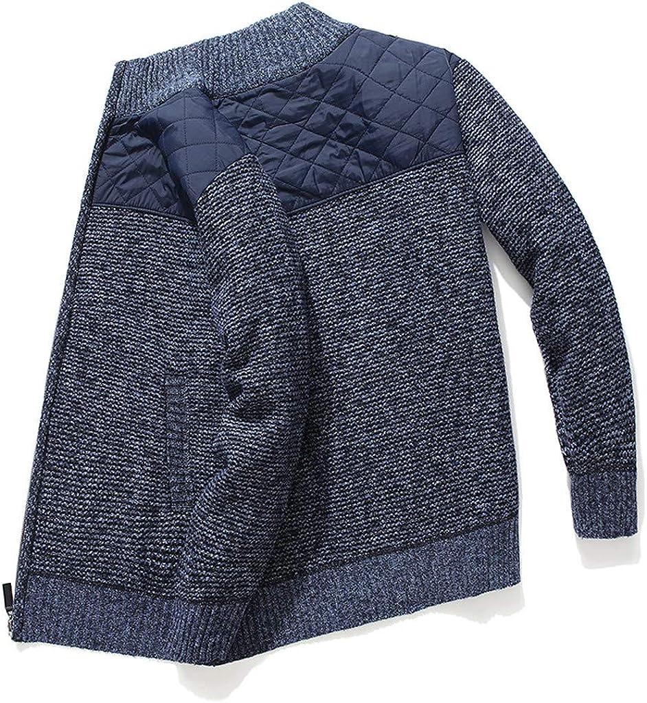 Autumn Winter Long Sleeve Cardigan Outwear OMINA Winter Warm Knit Jacket Men