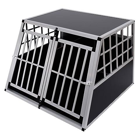 Jaula De Transporte para Perros De Aluminio con Tabique Hermetico ...