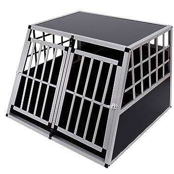 Jaula De Transporte para Perros De Aluminio con Tabique Hermetico Extraible XXL: Amazon.es: Jardín