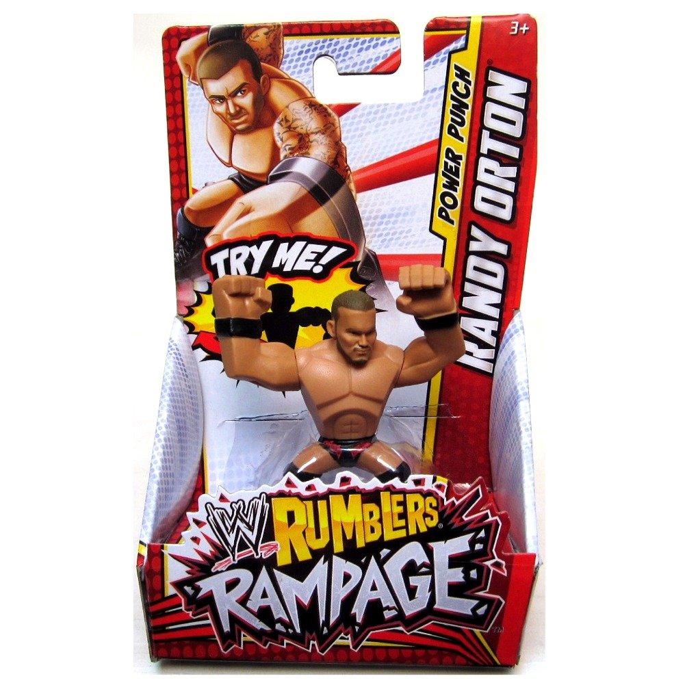 RANDY ORTON (BLACK & RED - PUNCH) - WWE RUMBLERS RAMPAGE MATTEL TOY WRESTLING ACTION FIGURE