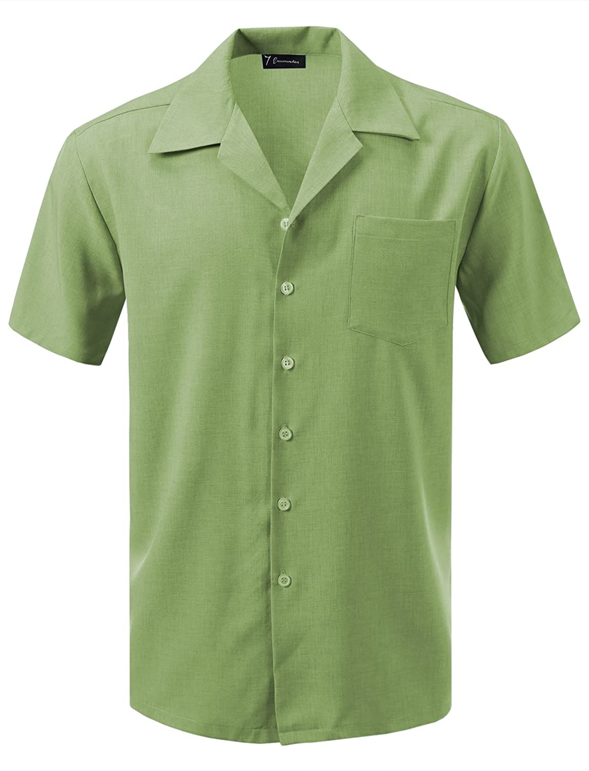 Men's Swing Dance Clothing to Keep You Cool 7 Encounter Mens Camp Dress Shirt $29.99 AT vintagedancer.com