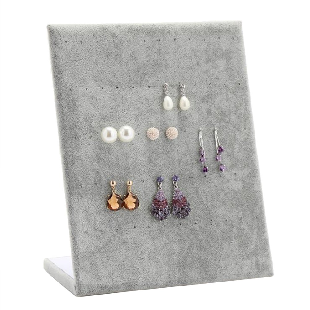 Youkara Velvet l Shape Jewelry stand display Earring Necklace Holder organizer rack Tower () Display_0516_uk_21