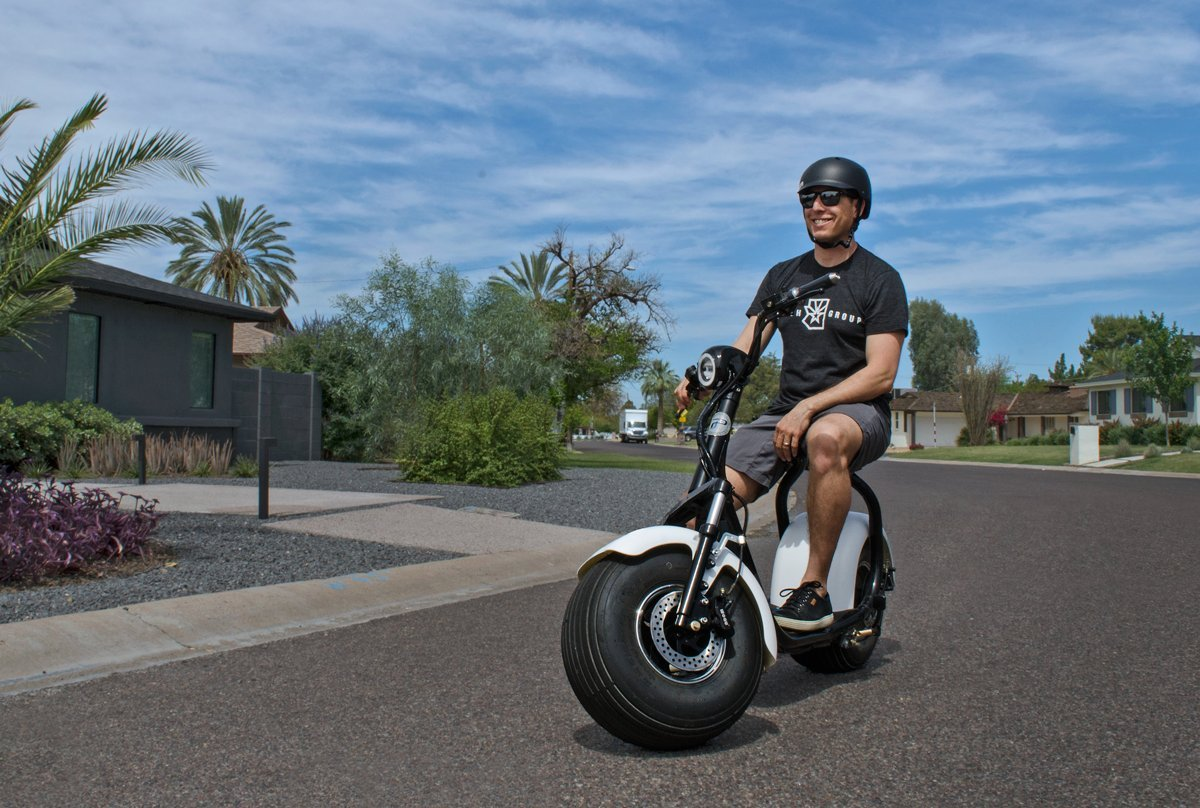 PHAT SCOOTERS - Phatty Sport Electric Scooter - Matte Black Frame - Gunmetal Fenders - Light Wood Deck by PHAT SCOOTERS (Image #3)