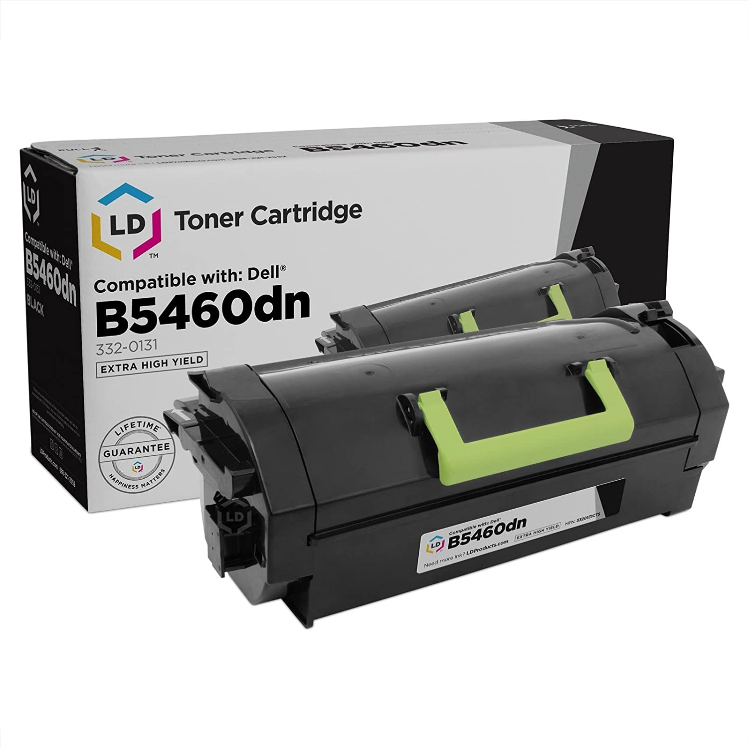 LD Compatible Toner Cartridge Replacement for Dell B5460dn 332-0131 Extra High Yield (Black)