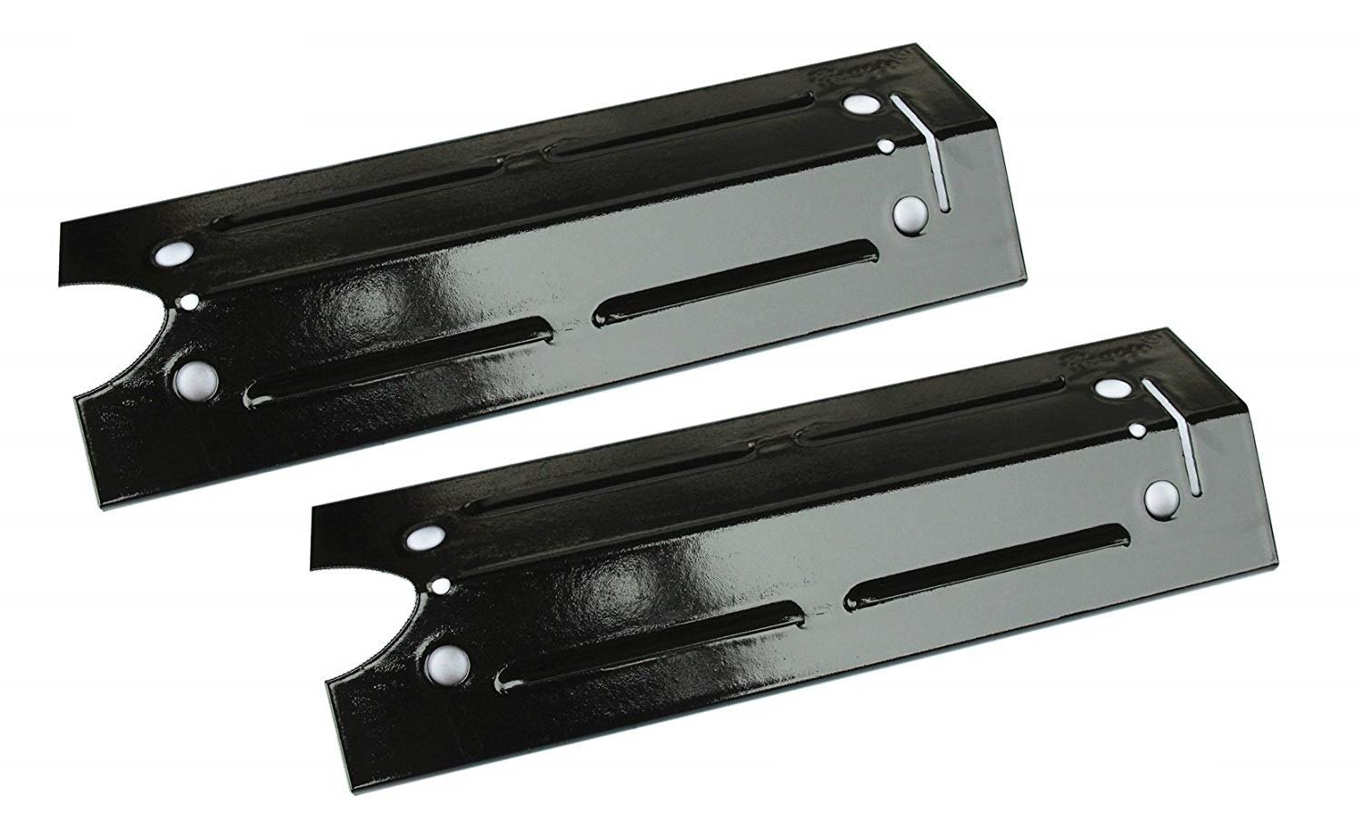 Porcelain Steel Heat Plate Burner Cover 2-Pack 15 x 4 13//16 Hongso PPI421 and Flavorizer Bar Replacement for Gas Grill Model Brinkmann 810-4220-S