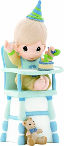 Precious Moments Hip, Hip, Hooray, You re One Year Old Today Boy Figurine