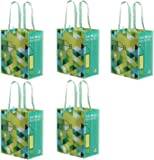 Earthwise Reusable Grocery Bag Xlarge Made from Recycled Plastic Bottles (Rpet) Eco Friendly Heavy Duty Material (Pack…