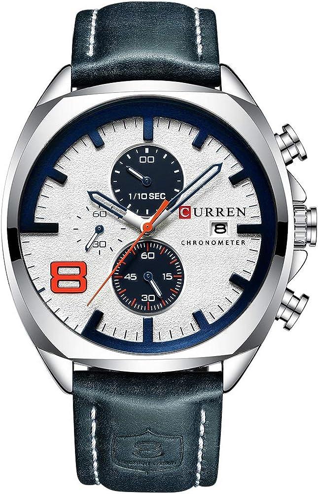 CURREN Hombre Cuarzo Reloj deportivo Masculino Multifuncional reloj de pulsera