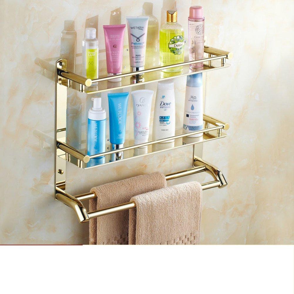 85%OFF Golden bathroom racks/towel rack/Stainless steel Towel rack bathroom/Bathroom racks-O