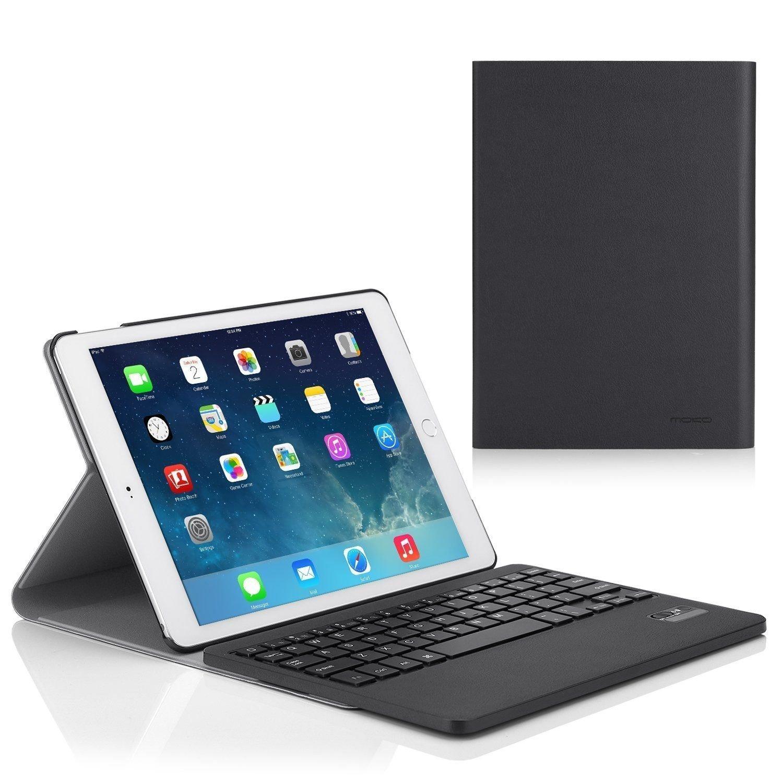 MoKo Keyboard Case for Apple iPad Air 2 (iPad 6) - Wireless Keyboard Cover Case for Apple iPad Air 2 (iPad 6) 9.7 Inch iOS 8 Tablet, BLACK