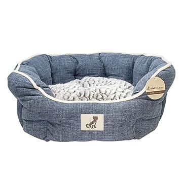 All Pet Solutions - Cama de Perro de Lujo con Forro Polar, tamaño pequeño, Color Azul: Amazon.es: Productos para mascotas