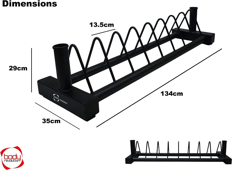 Horiztonal Bumperplatte Rack mit 2 Zoll olympischen Langhantelhalter St/änder Body Revolution Olympic Hantelst/änder
