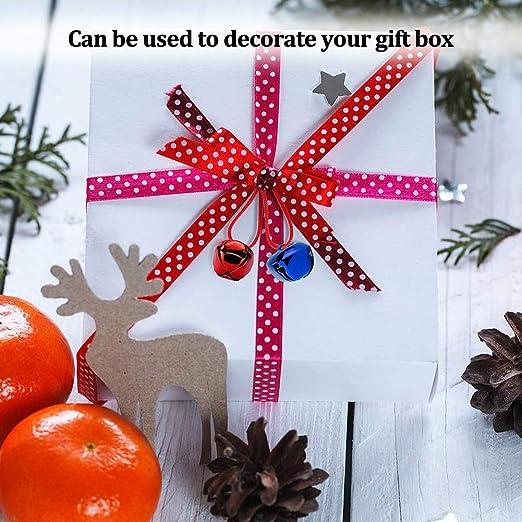 Simur - 200 cascabeles navideños de metal para decoración navideña y fiestas, bricolaje, multicolor, 10 mm: Amazon.es: Hogar