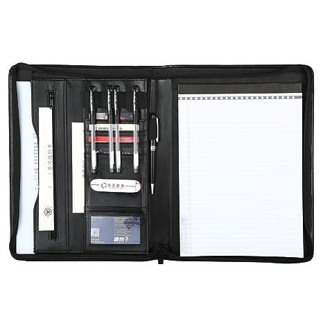 2801545d3598 Leathario-Portfolio A4 en cuir PU pour bureau, porte document en cuir,  agenda d affaires en cuir, chemise de dossier en cuir, Chemise document en  cuir pour ...