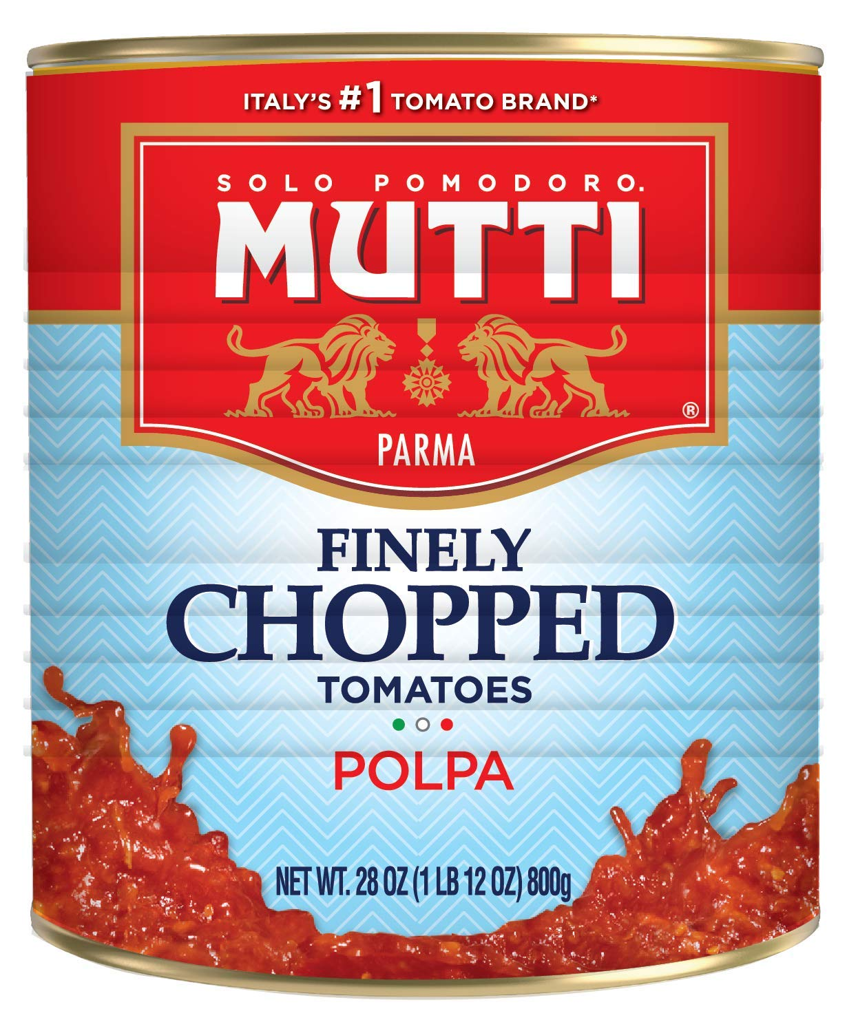 Mutti Finely Chopped Tomatoes, 28 oz. Can, 6-Pack