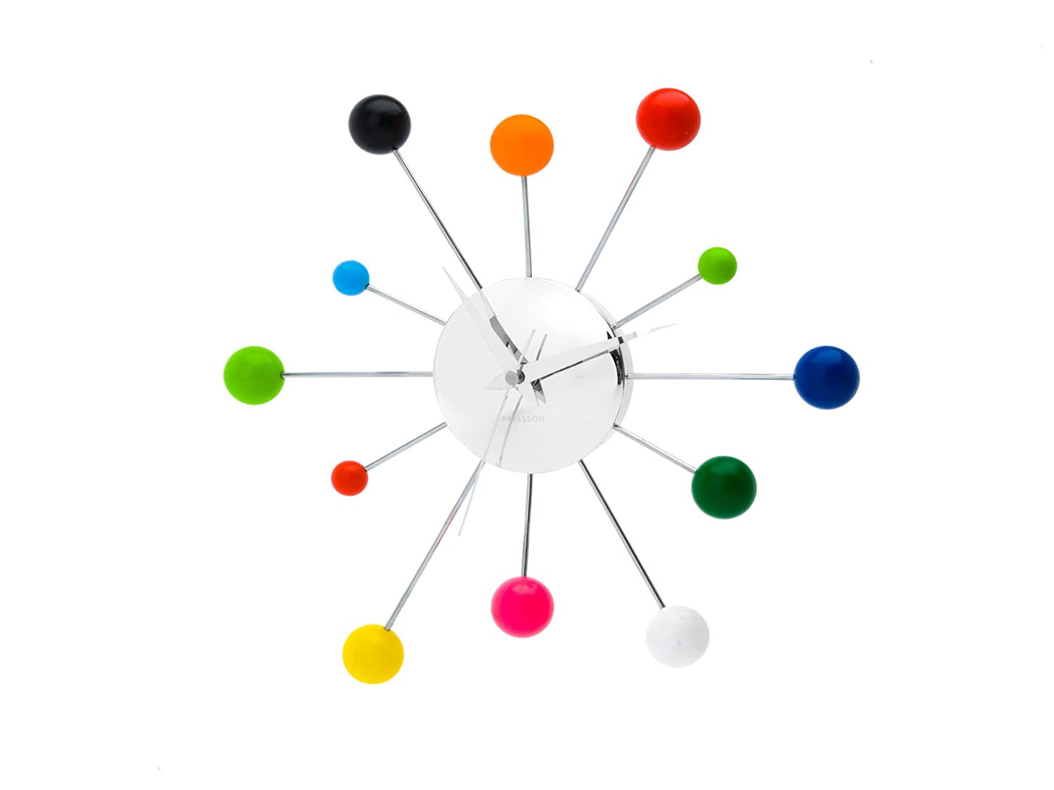 Amazon Present Time Karlsson Wall Clock Mixed Spider Multi