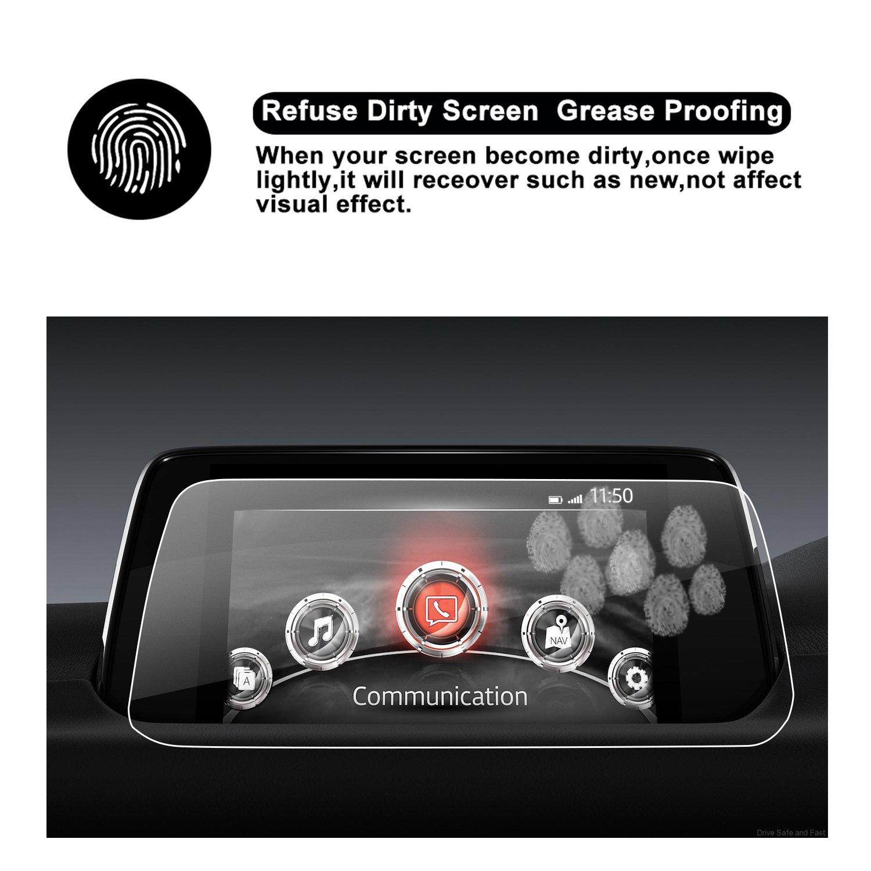 de taille Verre Tremp/é Protection d/écran Mazda 5 CX sp/éciale pour le syst/ème de navigation de 2017/2018/Mazda CX de 5/II Invisible Film protecteur /écran Film de film film transparent en verre ruiya