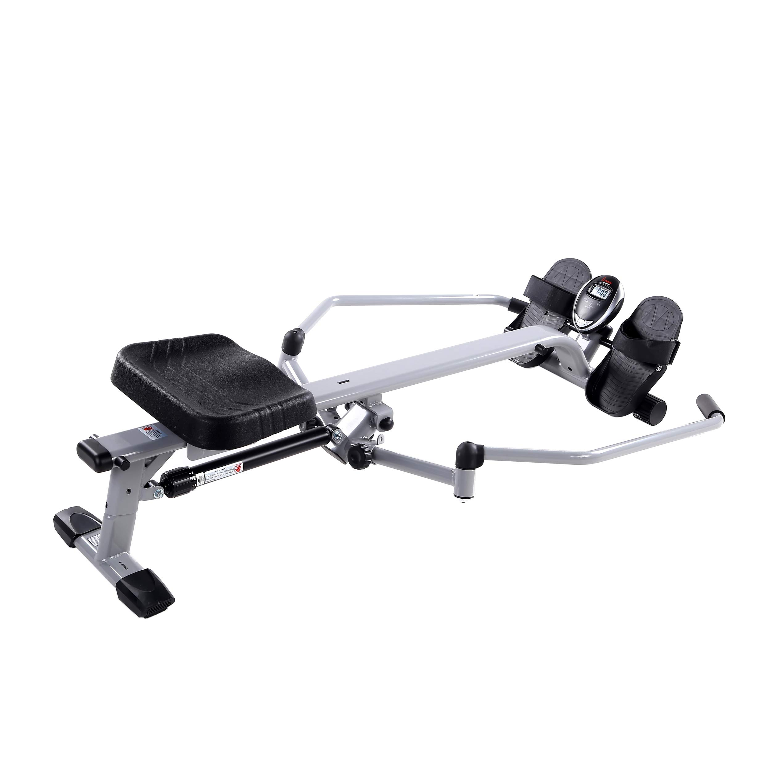 Sunny Health & Fitness SF-RW5639 Full Motion Rowing Machine Rower w/ 350 lb Weight Capacity and LCD Monitor by Sunny Health & Fitness (Image #3)