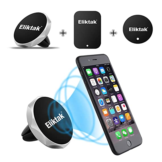 super popular fdd13 c7a8c ELIKTAK Car Phone Mount Magnetic Air Vent Cell Phone Holder Stand  Compatible with iPhone X 8 7 6 6S Plus 5s Samsung HTC Sony All Smartphones  GPS ...