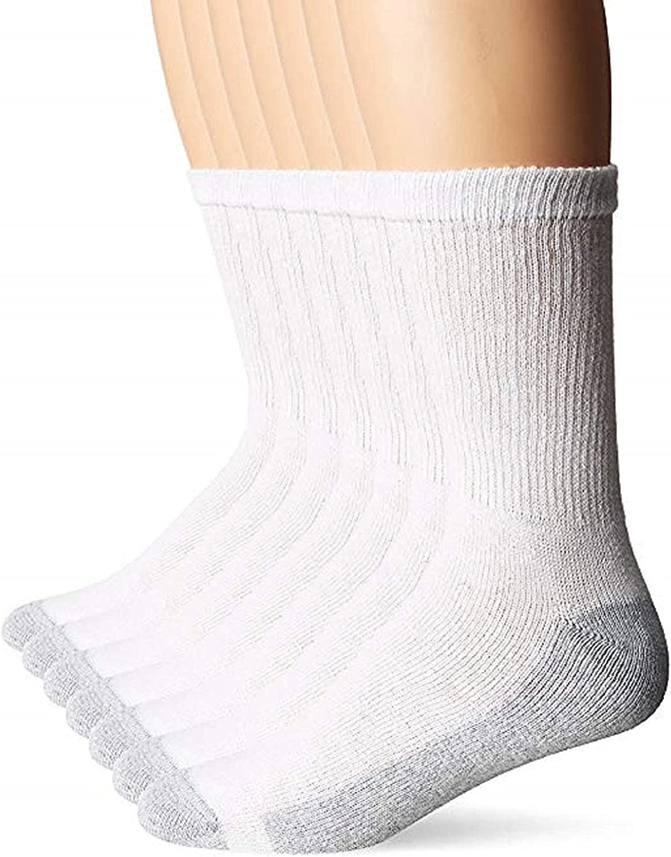 Hanes Men/'s 12-Pair Pack Crew Socks Black Sock Size 10-13 Shoe Size 6-12