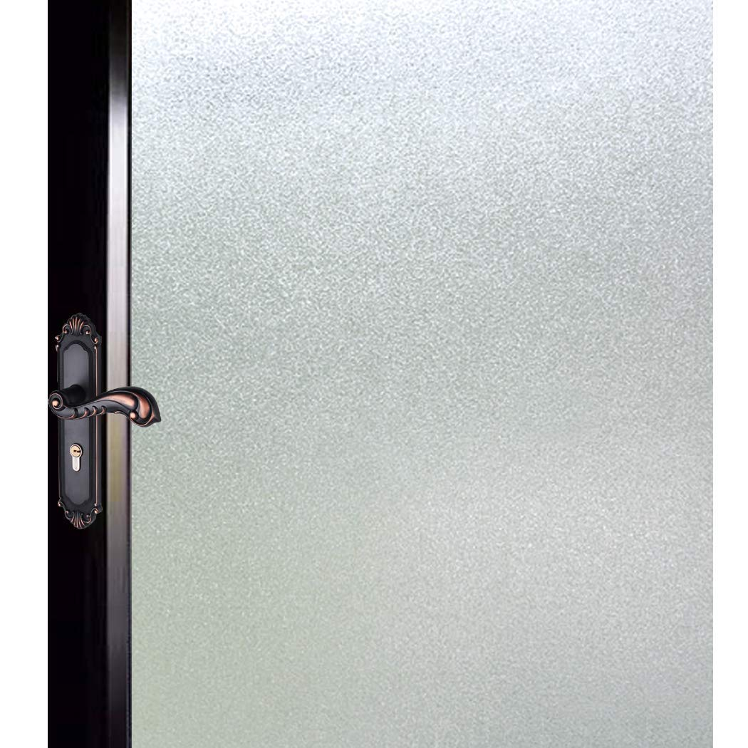 DUOFIRE Privacy Window Film Natural Frosted Glass Film Static Cling Glass Film No Glue Anti-UV Window Sticker Non Adhesive for Privacy Office Meeting Room Bathroom Living Room 47.2in. x 157.4in. S001 by DUOFIRE