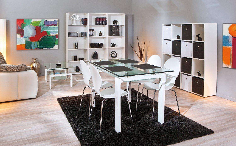 Esszimmer Mit Tisch 150 X 80 Cm Weiss Gunstig Online Kaufen