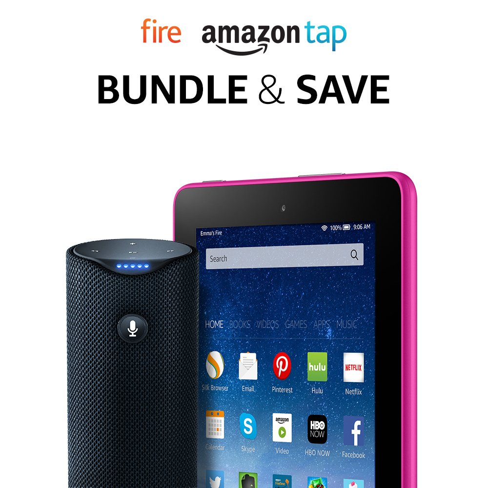 Amazon Fire Tablet and Tap bundle