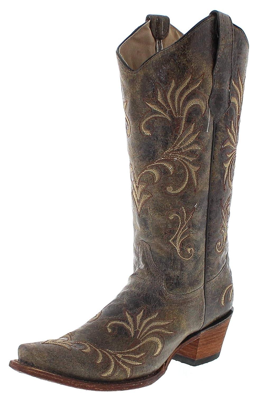 Corral Stiefel Damen Cowby Stiefel L5133 Lederstiefel Grün