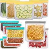 Jagrom Reusable Storage Bags (13 Pack) 2 Gallon & 5 Sandwich Lunch Bags & 6 Small Kids Snack Bags For Food, EXTRA THICK…