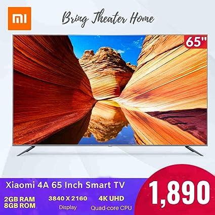 Amazon com: Xiaomi TV 4A 65 inch 4K Smart TV (65 Inch, Grey