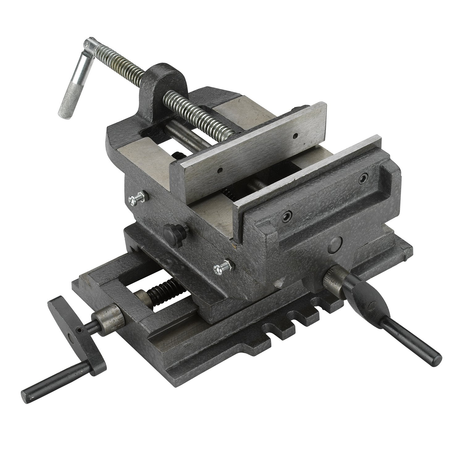 Hiltex 55091 4'' Cross Slide Vise, Heavy Duty | 2-Way X Y Axis Drill Press | For Milling, Machinists