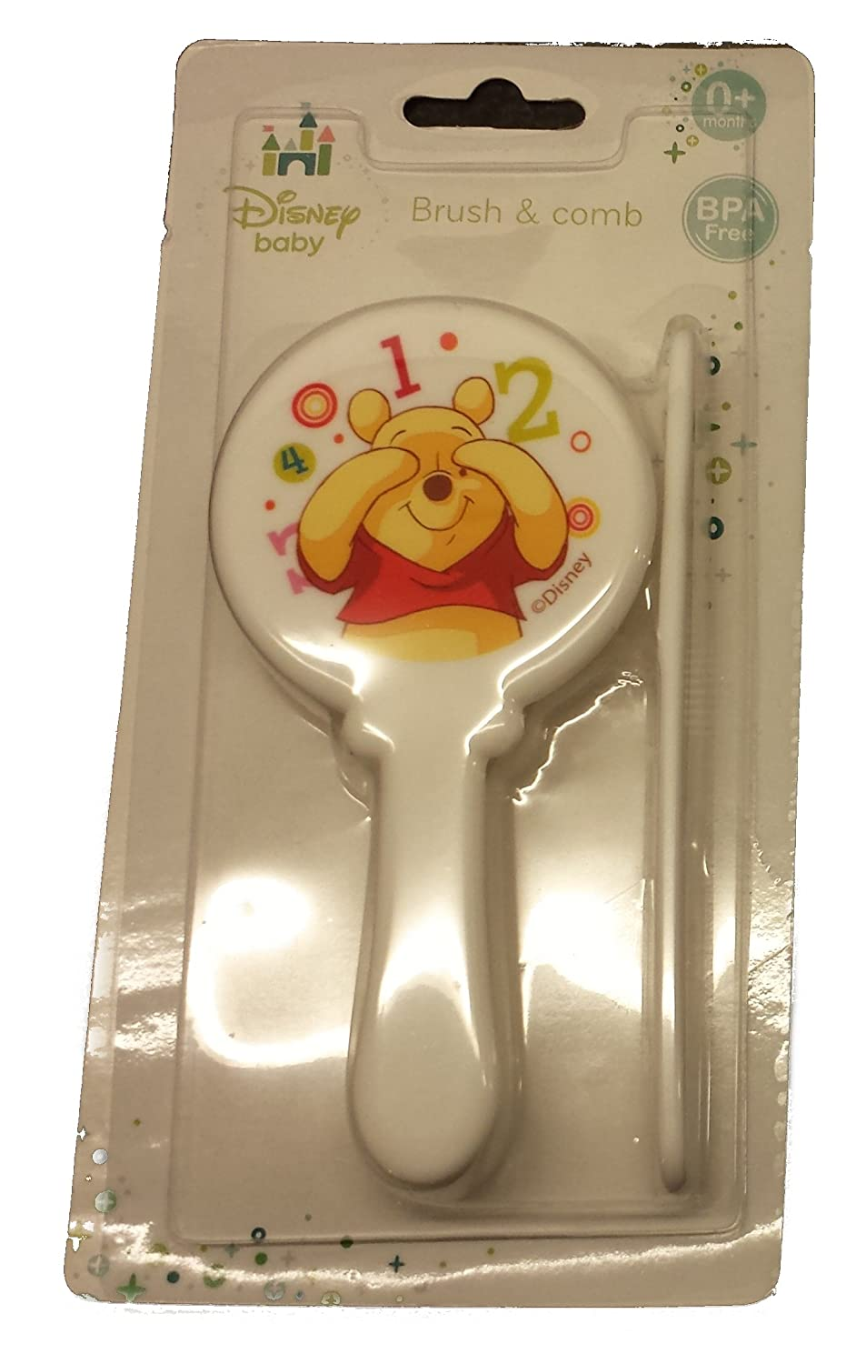 WINNIE THE POOH SHAPED CUTE YELLOW HAIR BRUSH AND COMB SET Disney