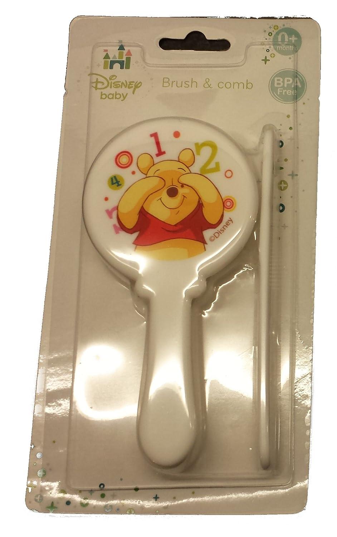 Mignon en forme de Winnie l'ourson jaune Brosse à cheveux et peigne Disney