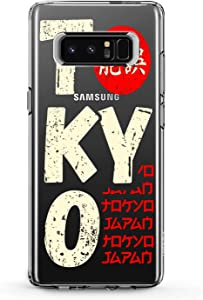 Anreda TPU Case Compatible for Samsung A72 A90 A71 A12 5G A11 A10 A50 A30 A20 A9 Man Soft Smooth Red Traveling Cover Clear Tokyo Gift White Boy Journey Art Design Print Slim fit Japan Capital Flexible