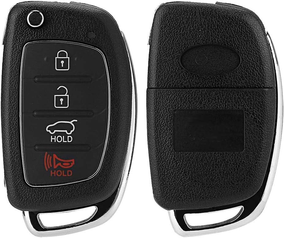 ix45 Key Fob Case 2013-2014 Flip 4 Button Remote Key Fob Case Shell Cover Fit For Hyundai Santa Fe