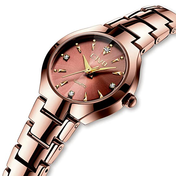 CIVO Relojes para Mujer Reloj Mujers Impermeable Oro Rosa Elegante Banda de Acero Inoxidable Relojes de Pulsera de Señoras Moda Vestidos Negocio Lujo ...
