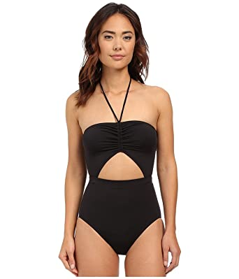c6a179d08b19c Image Unavailable. Image not available for. Color  Michael Kors Plus Size  Halter Logo Tankini Top ...