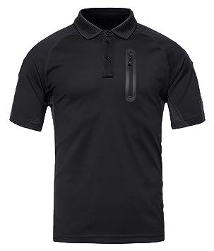 KEFITEVD Polo de Protección UV de Secado Rápido Hombre Slim Fit Camisas de Polo Deportivas al Aire Libre Ejercito Verde tSlVo1nq