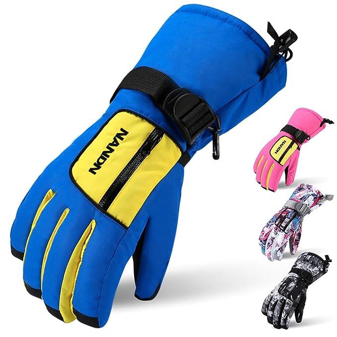 Liva Girl Winter Kids Anti-cold Snow Ski Gloves Children Thicken Warm Print Windproof Full Finger Gloves Boys Girls Mittens 2019 Latest Style Online Sale 50% Apparel Accessories