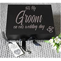 Grooms Box, Wedding Keepsake, Groom Gift Box, Wedding Gift Box, Groomsman Gift, Wedding Gift box, Grooms Box, A4 size, measures 33 x 25 x 11 cms complete with shredded paper and a small heart charm.
