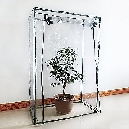 cadre non inclus PE Plante Coque L/égumes Tente avec fermeture /Éclair enroulable Porte Serre /à tomates