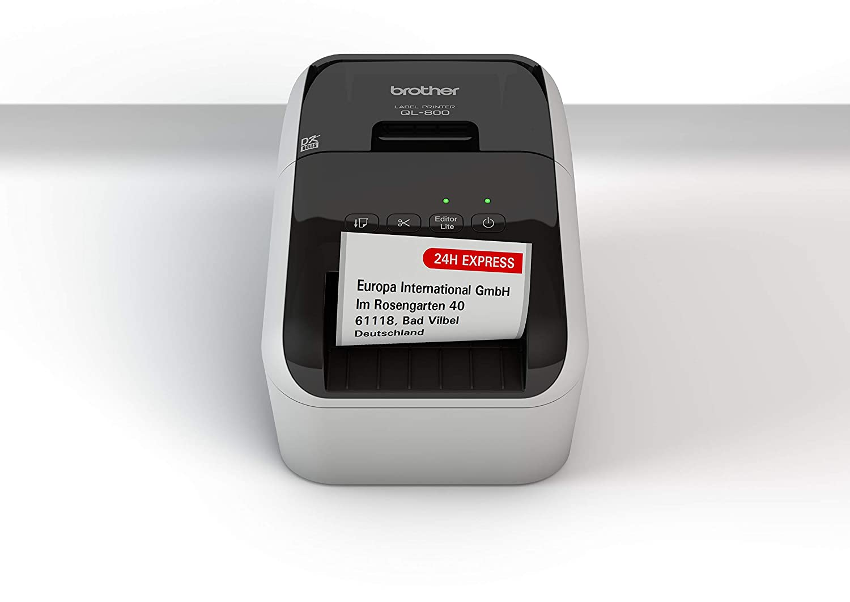 Brother QL-800 - Impresora de Etiquetas (USB 2.0, Cortador automático, impresión a Negro y Rojo)