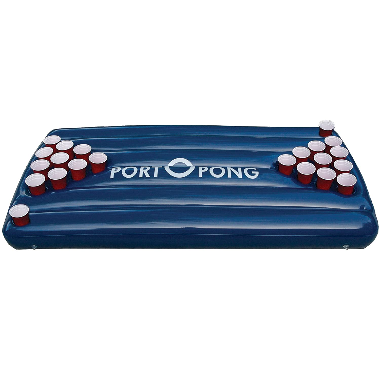 Blue Pool Surface Inflatable Beer Pong Raft Table